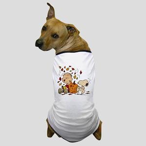 Fall Peanuts Dog T-Shirt
