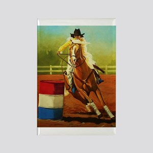 Barrel Racing Rectangle Magnet