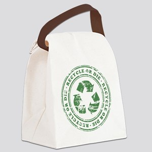 Recycle or Die Canvas Lunch Bag