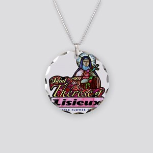 Saint Therese_light Necklace Circle Charm