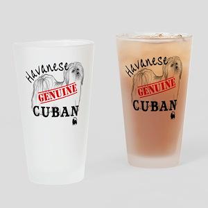 GenuineCuban_with_HRIlogo Drinking Glass