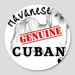 GenuineCuban_with_HRIlogo Round Car Magnet