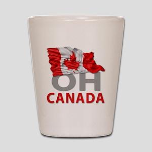 Canada day 02 Shot Glass
