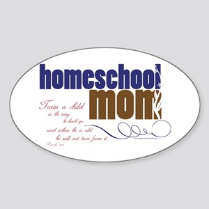 homeschool mom Sticker (Oval)