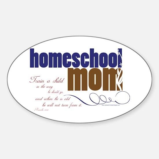 homeschool mom Sticker (Oval)