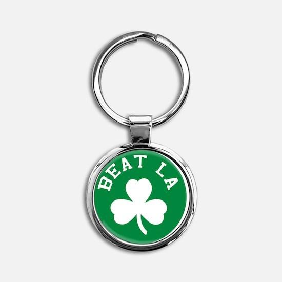 Beat LA Hat Round Keychain