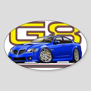 Pontiac_G8_blue Sticker (Oval)