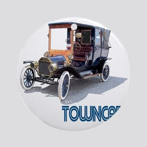 T-towncar-10 Round Ornament