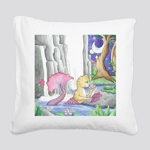 WaterGarden Square Canvas Pillow