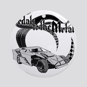 PTTM_DirtMod_Gray Round Ornament