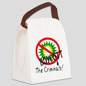 Boycott the Criminials Canvas Lunch Bag