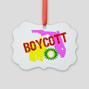 BOYCOTT BP Picture Ornament