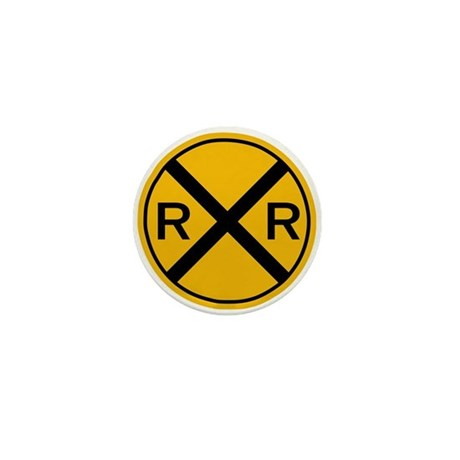 Level Grade Crossing Mini Button