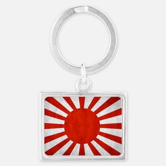 2-Japanese_War_Grunge_Flag_by_t Landscape Keychain