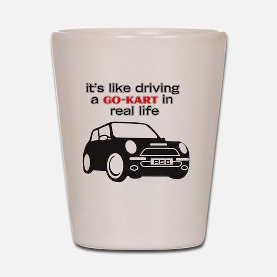 Like Driving a Go-Kart Shot Glass