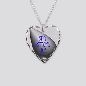 Only Bottoms Cry Necklace Heart Charm