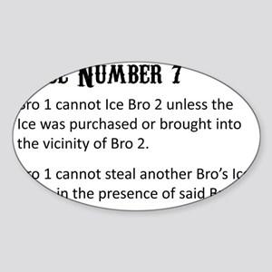 rule-number-7-export Sticker (Oval)