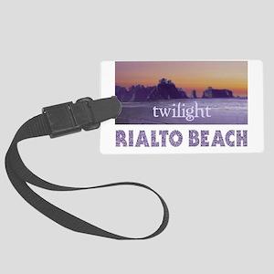 Twilight  at Rialto Beach Large Luggage Tag
