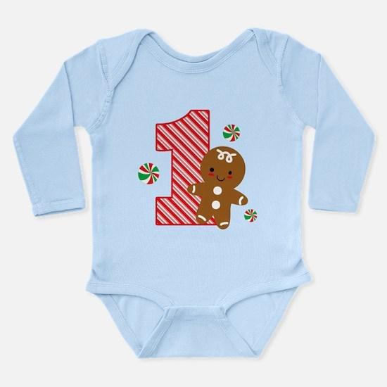 Gingerbread Boy 1st Birthday Long Sleeve Infant Bo