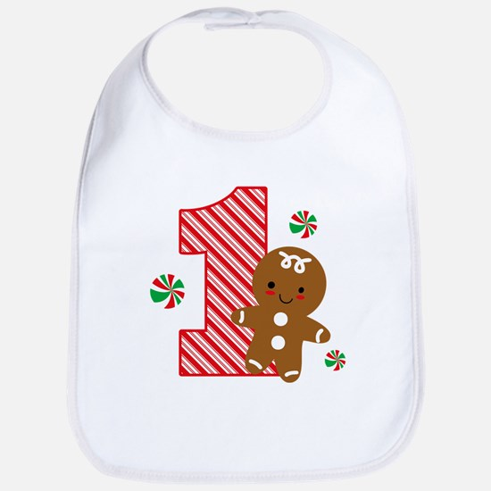Gingerbread Boy 1st Birthday Bib