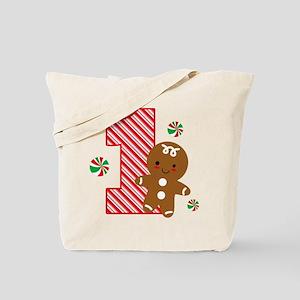 Gingerbread Boy 1st Birthday Tote Bag