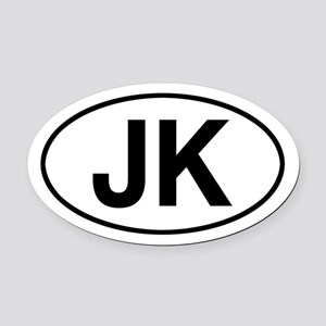 jeep jk Oval Car Magnet