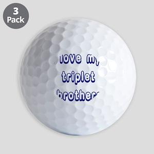 ilovemytripletbrothers2 Golf Balls