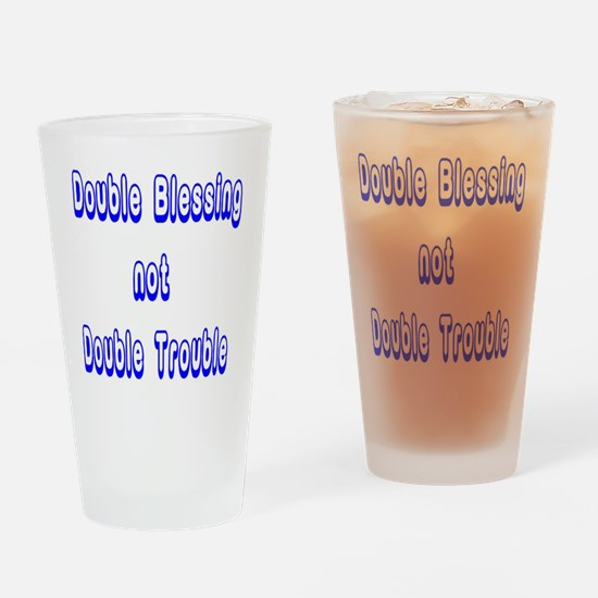 doubleblessing4 Drinking Glass