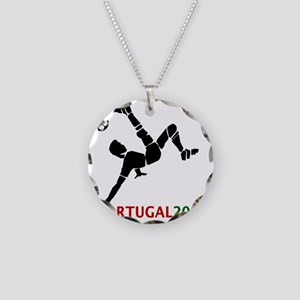 Portugal Soccer Necklace Circle Charm