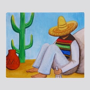 Mexican siesta Throw Blanket