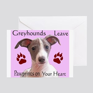 Pawprints on your heart Greeting Cards (Package of