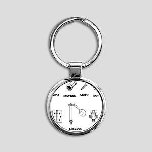 2-sexy-parts-LTT Round Keychain