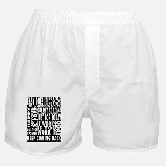 12 STEP SLOGANS Boxer Shorts