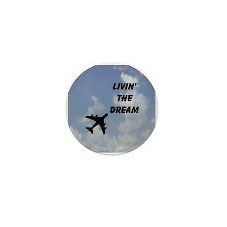 Living The Dream Mini Button Airplane!