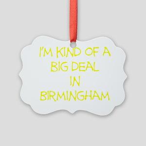 BigDealInBirminghamYellow Picture Ornament