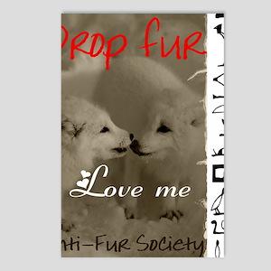 DROP FUR LOVE ME Postcards (Package of 8)