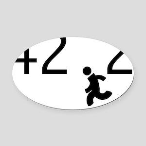 42.2 black font running man Oval Car Magnet