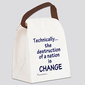 technically_royal_blue Canvas Lunch Bag