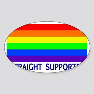 straight supporter Sticker (Oval)