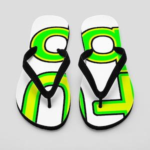 fubpblack line Flip Flops