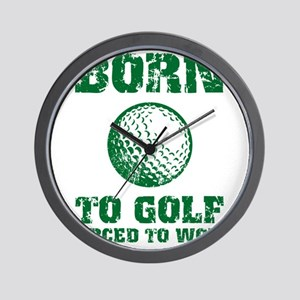 Born To Golf Wall Clock