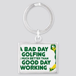 A Bad Day Golfing Landscape Keychain