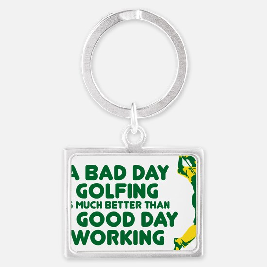 A Bad Day Golfing Landscape Keychain