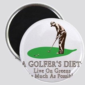A Golfer's Diet Magnet