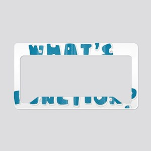 Whats Your Function Blue License Plate Holder