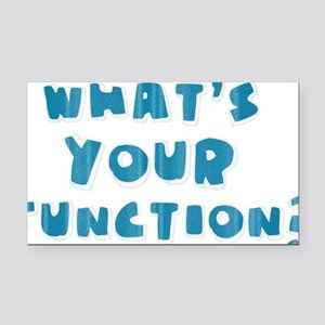 Whats Your Function Blue Rectangle Car Magnet