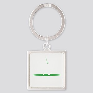 I'd Rather Be Golfing copy Square Keychain
