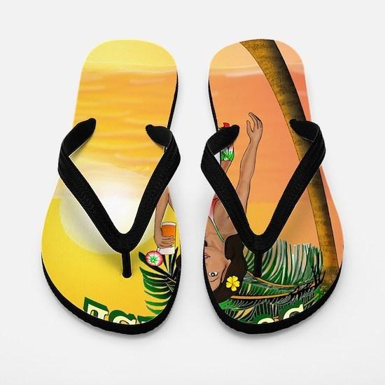 TequilaSunrise Flip Flops