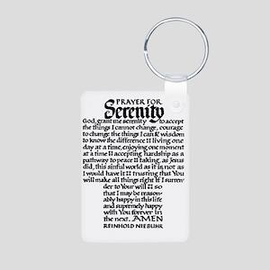 FULL SERENITY.PRAYER Aluminum Photo Keychain