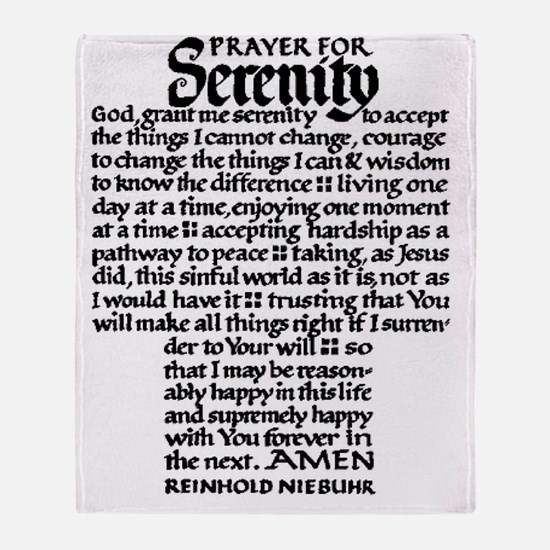 FULL SERENITY.PRAYER Throw Blanket